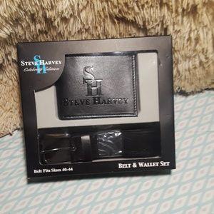 Steve Harvey Belt and Wallet Set